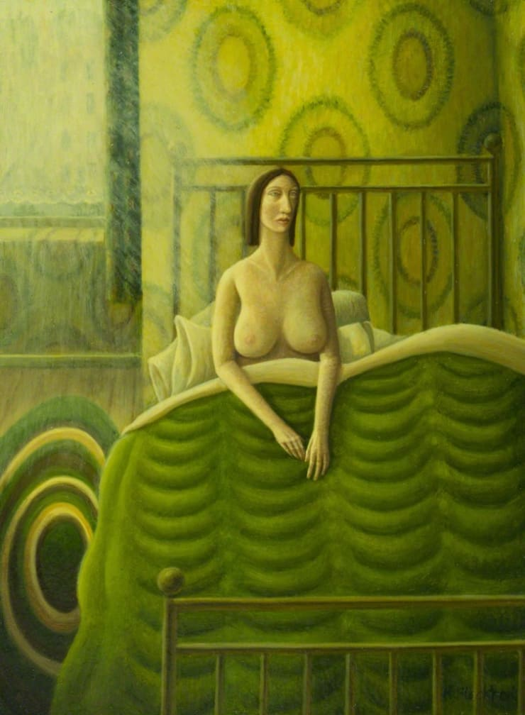 Helen Flockhart Eiderdown, 2016 Oil on board 26 × 19 × 4 cm