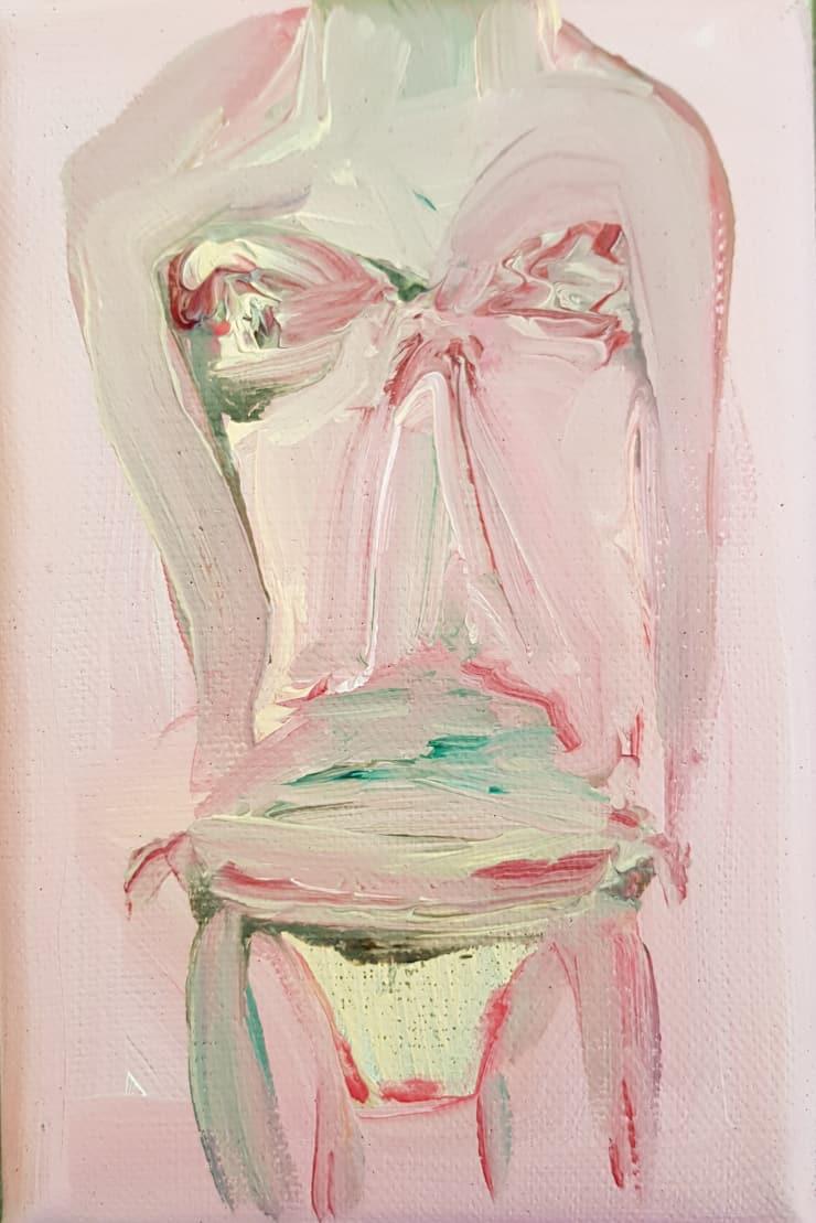 Rhiannon Salisbury Bikini Body, 2018 acrylic on canvas 15 x 9.5 cm 5 7/8 x 3 3/4 in