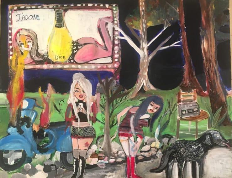 Silvia Argiolas Untitled, 2018 acrylic on canvas 7 9/10 x 11 4/5 in20 x 30 cm
