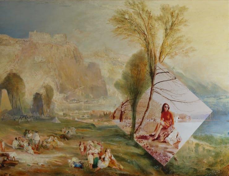 Morwenna Morrison Contemplating Ehrenbreitstein Oil on canvas 100 x 130 cm