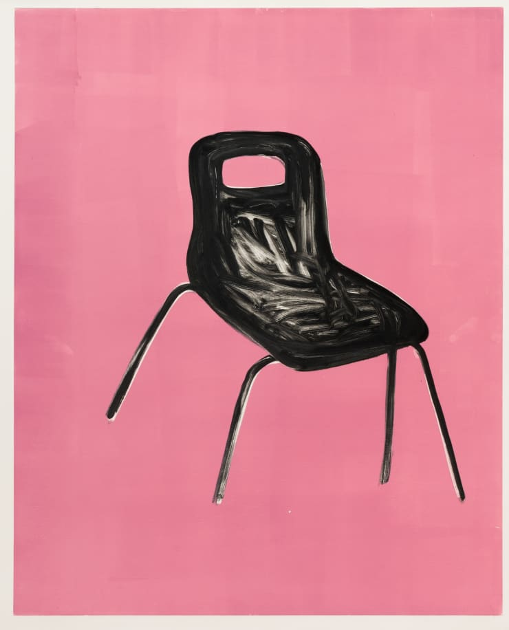 Shelly Tregoning Chair, 2019 Monoprint 112 x 91 cm