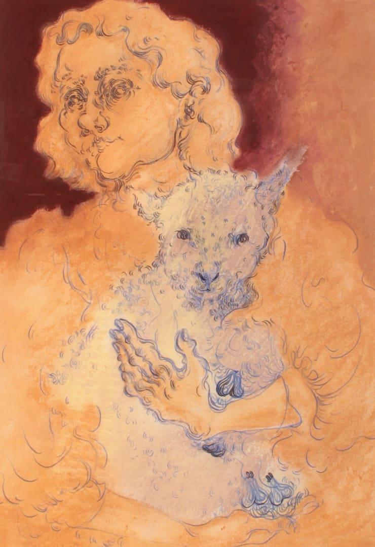 Plum Cloutman Blowzelinda, 2019 Pencil and pastel on paper 42 x 29 cm