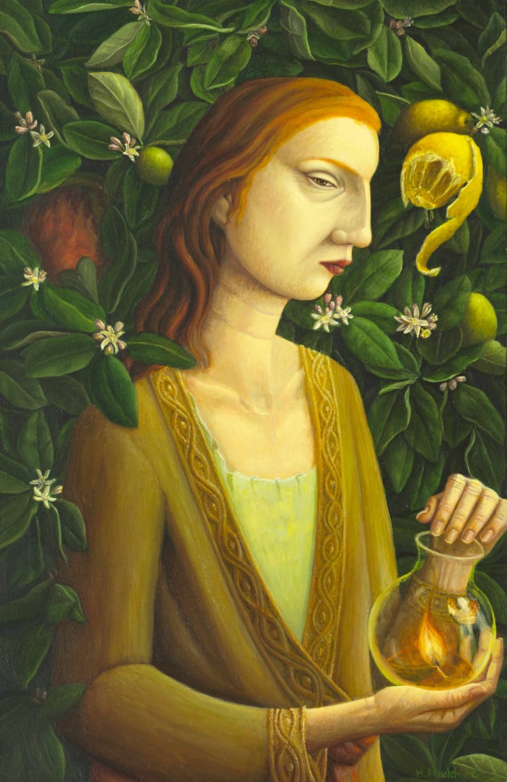 Helen Flockhart O Elizabeth, 2018 Oil on board 40 x 26 cm