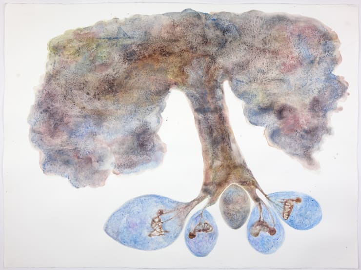 Kate Walters Father Sky Tree , 2018 Watercolour 57 x 76 cm
