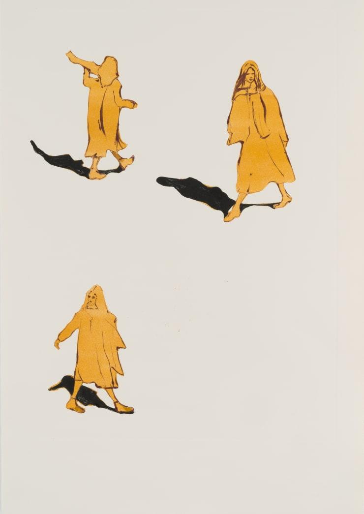 Shelly Tregoning Casting Shadows, 2019 Monoprint 53.5 x 38 cm