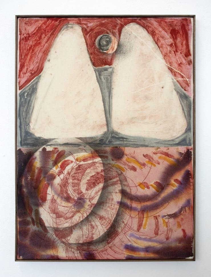 Aimée Parrott The Bath, 2019 Monotype, ink and cotton on calico 55 x 40.5 cm