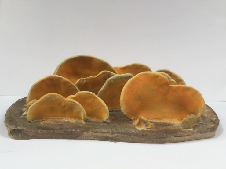 Ed Hill Untitled Two (orange fungus layers), 2019 Ceramic 15 x 7 x 10 cm