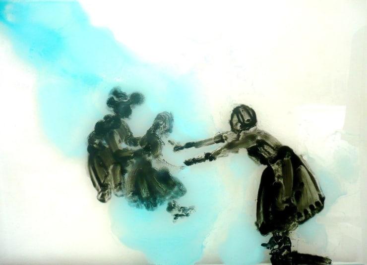 Ilona Szalay Cross, 2014 Oil on glass 40 × 50 cm