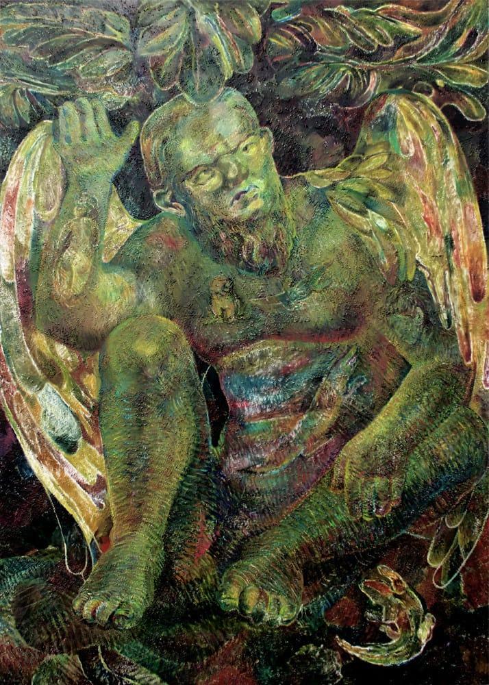 Ana Milenkovic Don oil on canvas 39 2/5 × 27 3/5 in 100 × 70 cm