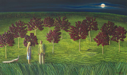 Helen Flockhart Orchard, 2017 Oil on board 38 × 62 × 2 cm
