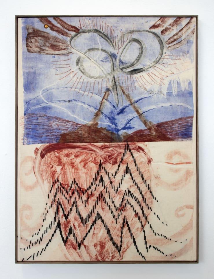 Aimée Parrott EKG, 2019 Monotype, ink and cotton on calico 55 x 40.5 cm
