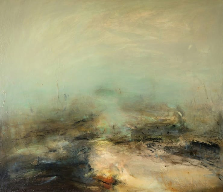 Mark Johnston Elemental Land II Oil on linen 120 × 140 cm