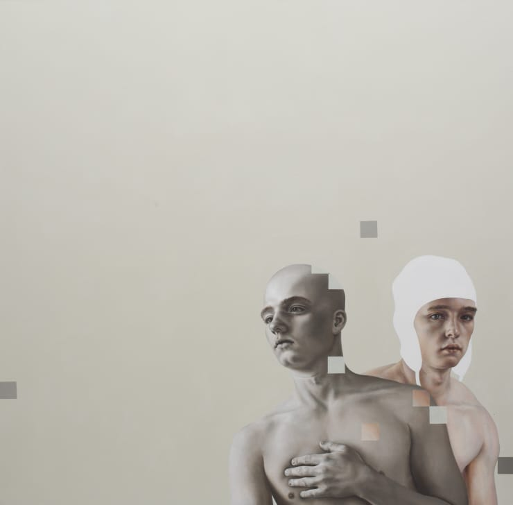 Pippa Young Imposter, 2016 Oil on canvas 47 1/5 × 47 1/5 in 120 × 120 cm