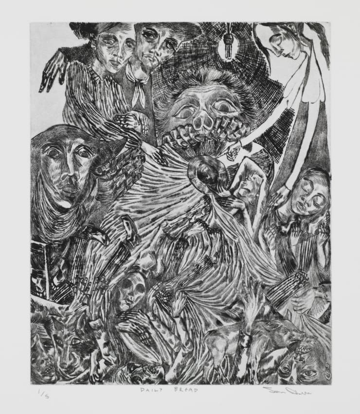 John Abell Daily Bread, 2019 drypoint engraving 77 x 57 cm