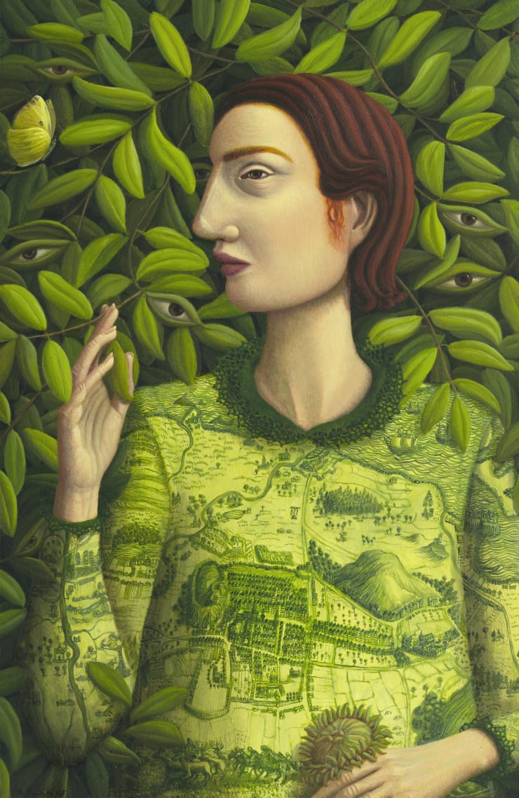 Helen Flockhart I See and Keep Silent, 2018 Oil on board 40 x 26 cm