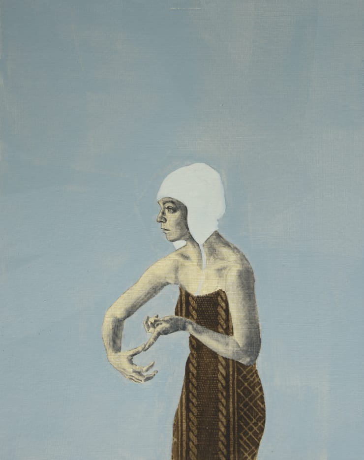 Pippa Young Study for: Self-correction, 2015 Oil on primed paper 19 3/10 × 15 7/10 in 49 × 40 cm
