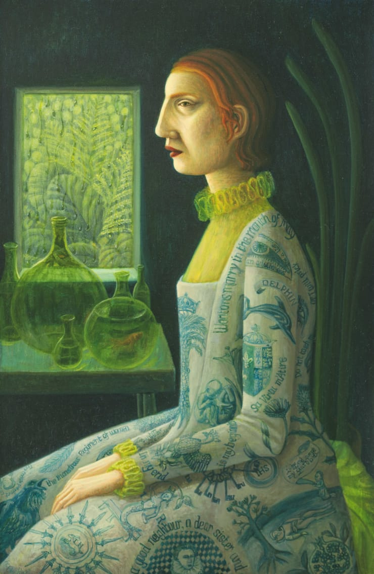 Helen Flockhart Lachrymose Window, 2018 Oil on board 40 x 26 cm