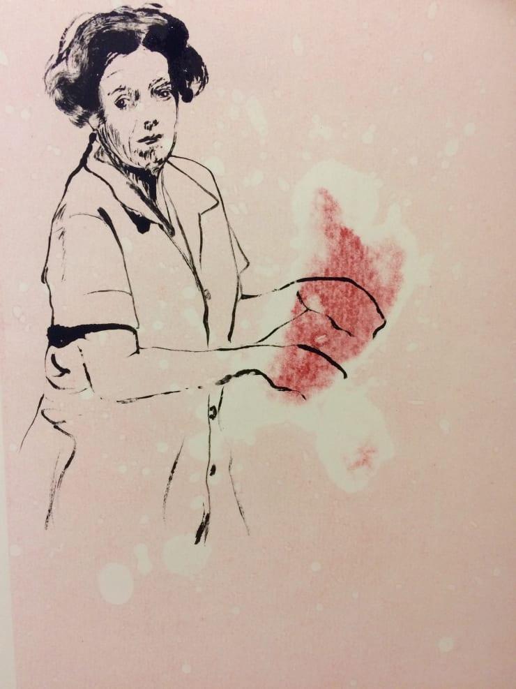 Shelly Tregoning Domestic Bliss, 2019 Monoprint 34 x 27 cm