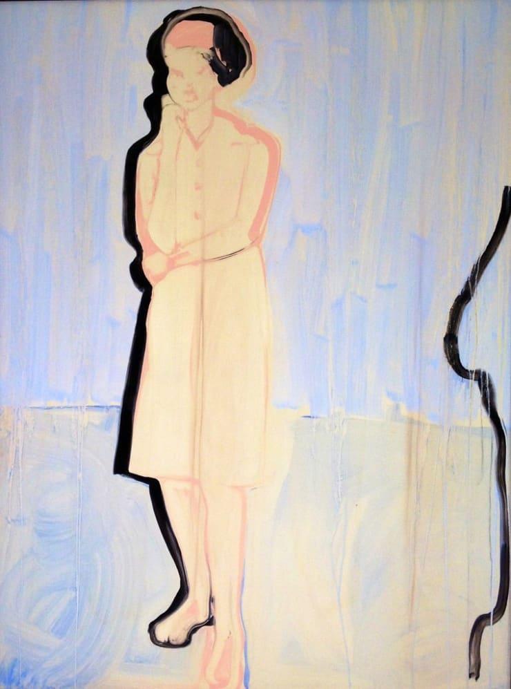 Ilona Szalay Totem, 2016 Oil and resin on board 78 7/10 × 59 1/10 × 2 in 200 × 150 × 5 cm