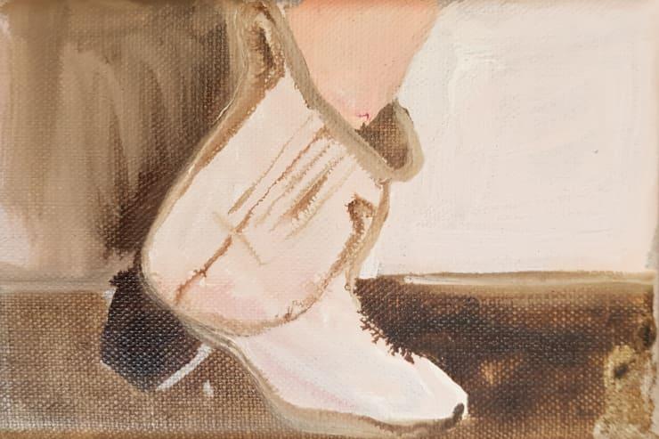 Rhiannon Salisbury Skater, 2018 acrylic on canvas 9.5 x 15 cm 3 3/4 x 5 7/8 in