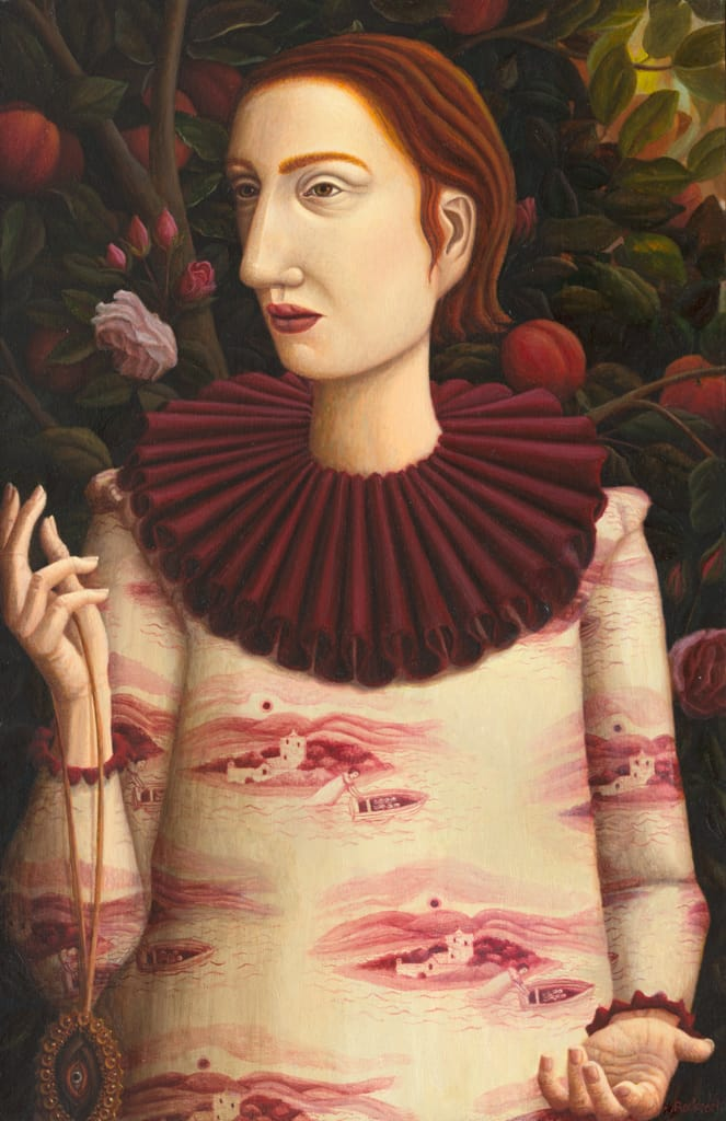Helen Flockhart Lover's Eye , 2018 Oil on board 40 x 26 cm