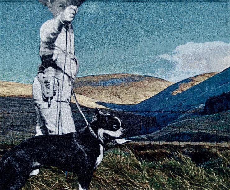 Elizabeth Stewart Ochil Cowboy, 2019 Tapestry, digitally woven and hand appliquéd cotton 125 x 148 cm