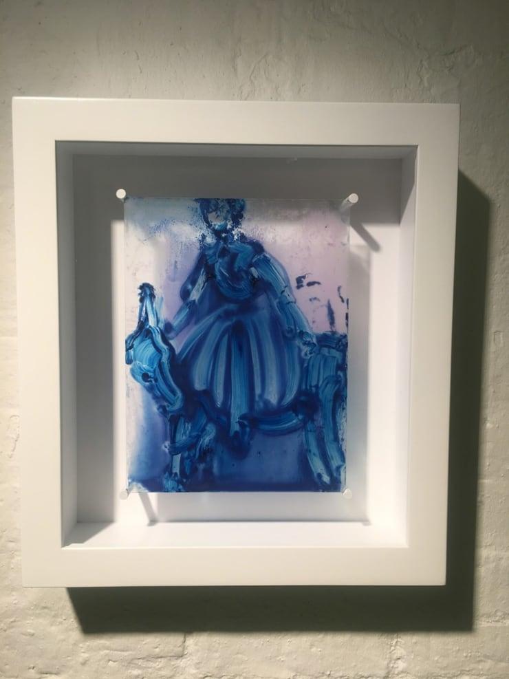 Ilona Szalay Blue Rider, 2015 Oil on glass 50 × 40 cm