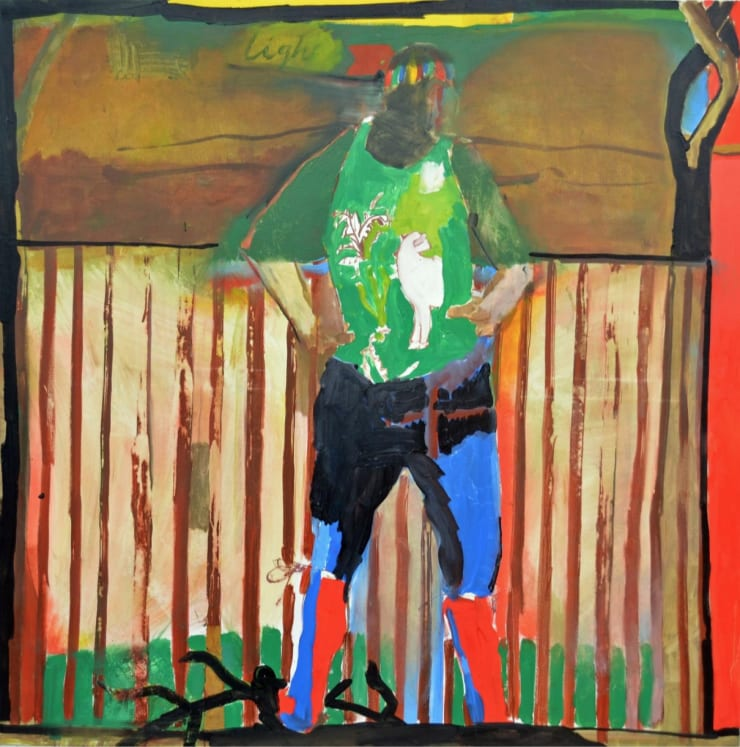 Ed Burkes It's Okay, I'm in Charge. The Garden's On My Back, 2016 Oil on canvas 55 1/10 × 55 1/10 in 140 × 140 cm