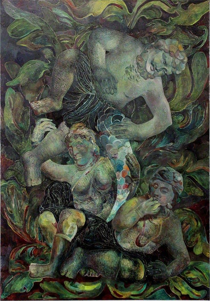 Ana Milenkovic Bacchus oil on canvas 39 2/5 × 27 3/5 in 100 × 70 cm