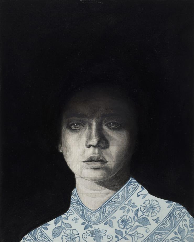 Pippa Young  Prenumbra, 2017  Oil on primed paper  11 4/5 × 9 2/5 in  30 × 24 cm
