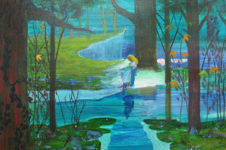 Eleanor Moreton Rusalka, 2019 Oil on canvas 40 x 60 cm
