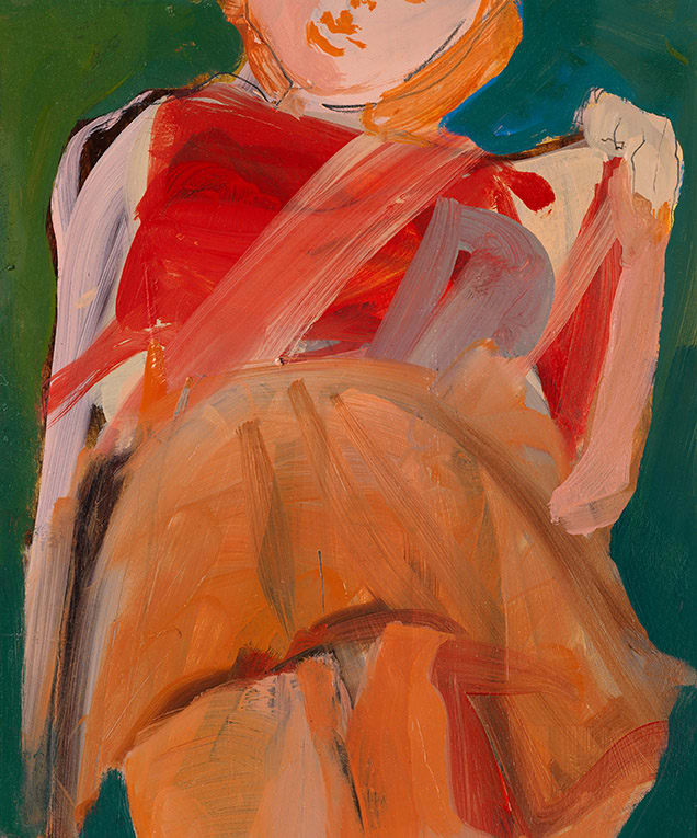 Elaine Speirs  Orange Skirt, 2017  Oil on board  11 4/5 × 9 4/5 in  30 × 25 cm