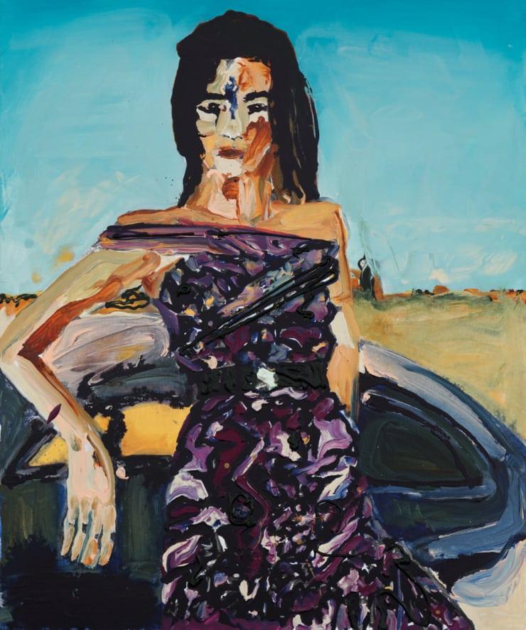 Rhiannon Salisbury Turps School Shoot, 2018 acrylic on canvas 60 x 50 cm