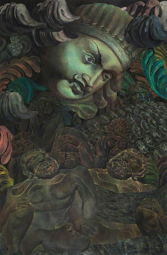 Ana Milenkovic Cephalon oil on canvas 90 3/5 × 59 1/10 in 230 × 150 cm