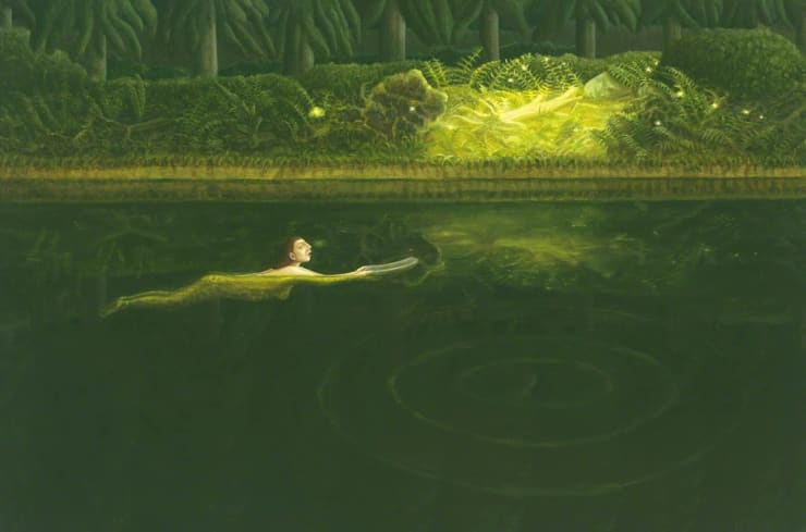 Helen Flockhart Phosphorescence, 2017 Oil on linen 40 × 60 × 4 cm