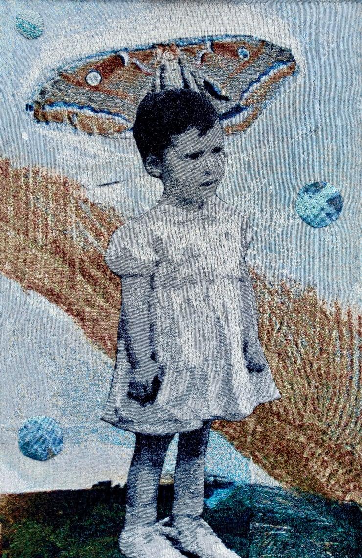 Elizabeth Stewart Moth Girl, 2019 Tapestry, digitally woven and hand appliquéd cotton 149 x 85 cm