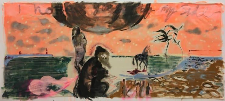 Michael Aurel Taking Ol' Girl Up Halsetown, 2018 Oil on canvas 160 x 320 cm