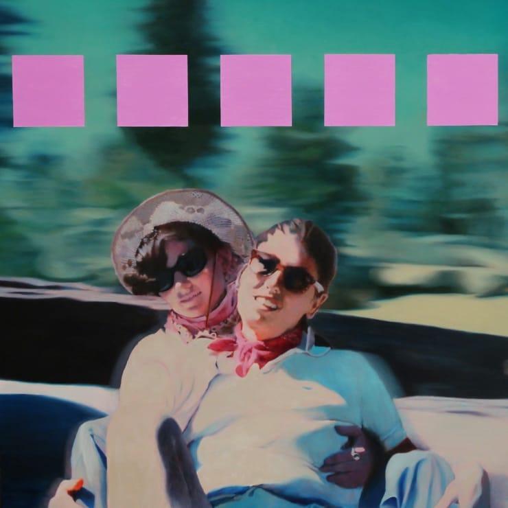 Morwenna Morrison Nostalgia Hot Pink 80's, 2015 oil on canvas 43 3/10 × 43 3/10 × 2 in 110 × 110 × 5 cm