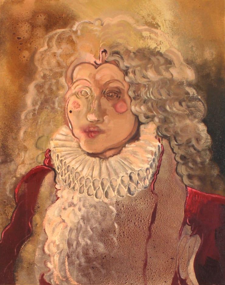 Plum Cloutman Coxcomb, 2019 Oil and spray paint on canvas 40 x 50 cm