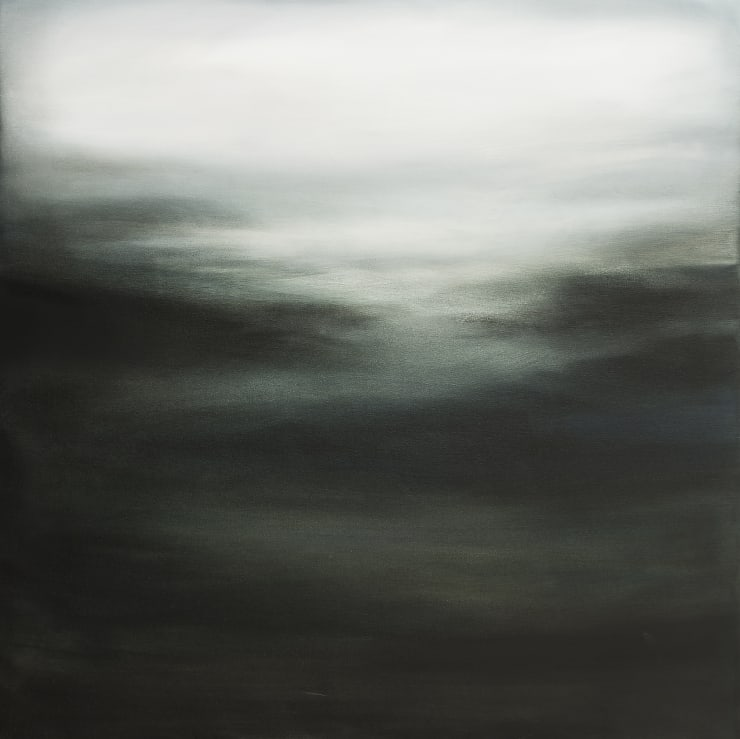Xanthippe Tsalimi Monochrome I Oil on Canvas 40 x 40 in 101.6 x 101.6 cm