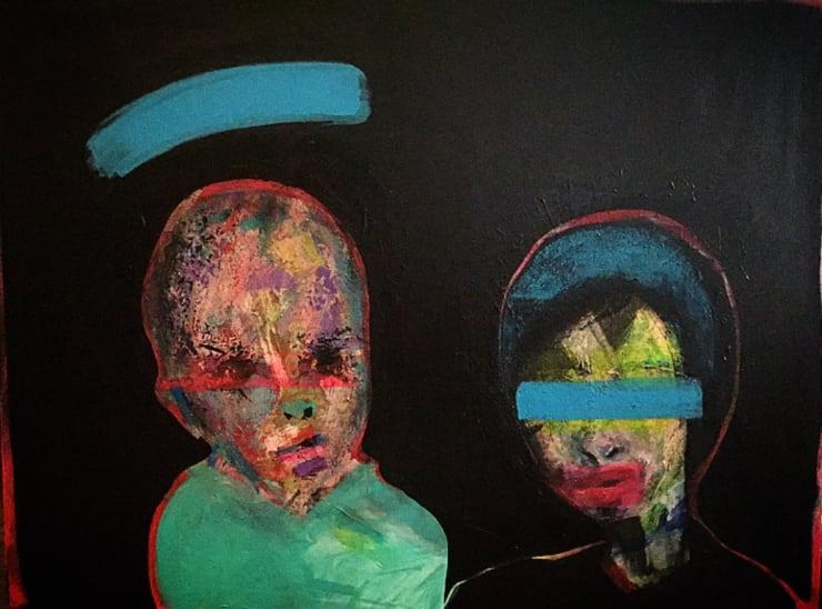 Hrair Seen And Not Heard, 2019 Acrylic on Canvas 40 x 30 in 101.6 x 76.2 cm