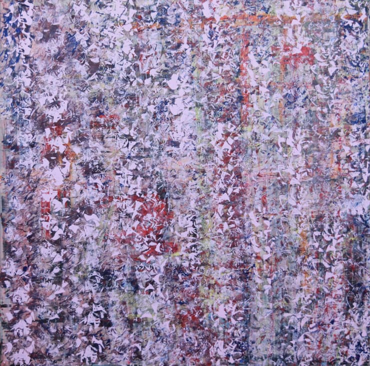 Eitan Barokas A Formality , 2019 Acrylic and Latex Paint on Canvas, 48 x 48 in 121.9 x 121.9 cm