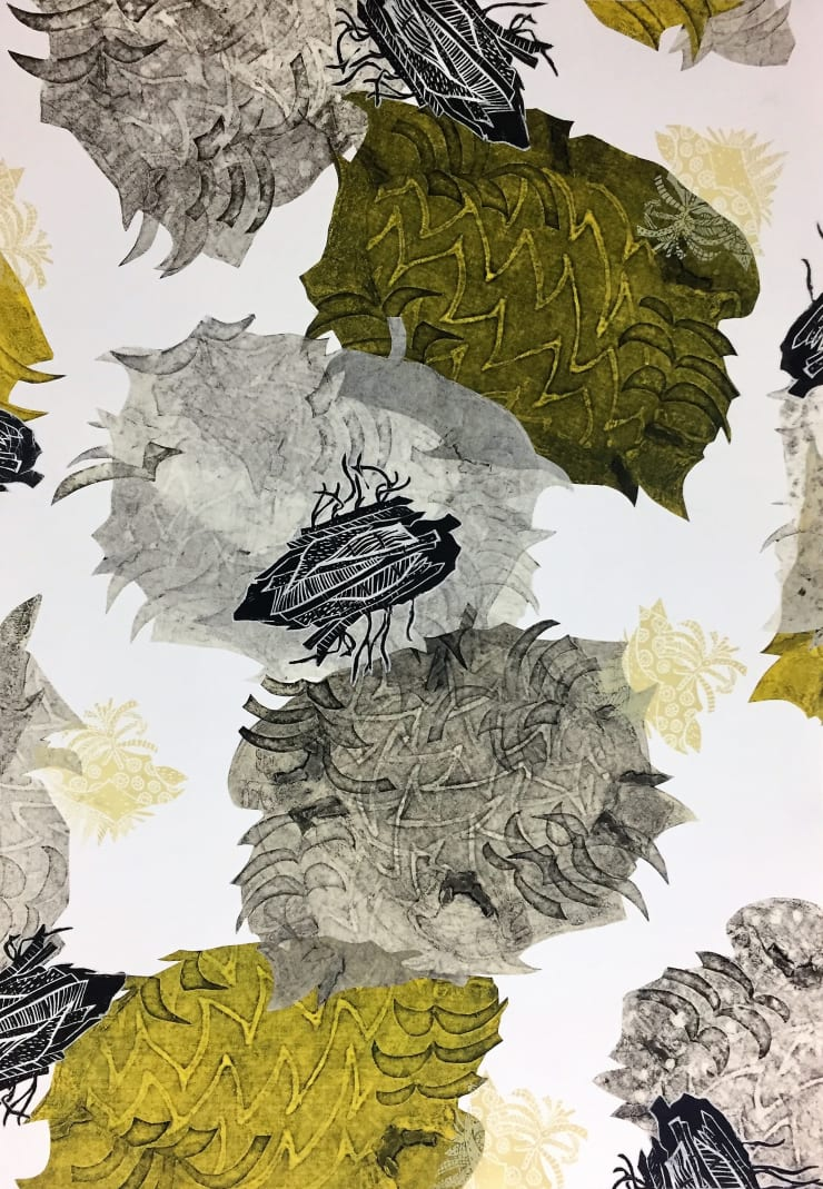 Christina Massey Carbonation Collection: Summer , 2017 collagraph, linocut, silkscreen and chine colle printmaking techniques on paper 22 x 30 in 55.9 x 76.2 cm