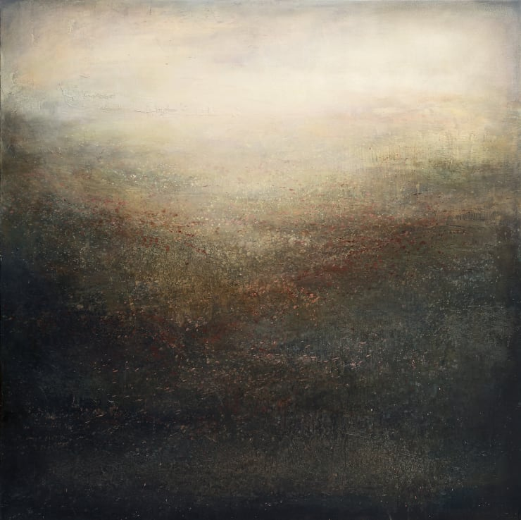 Xanthippe Tsalimi In the Mist, 2018 Oil on Canvas 40 x 40 in 101.6 x 101.6 cm
