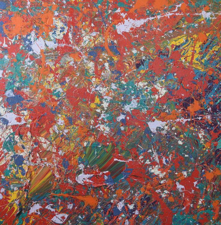 Eitan Barokas Shielded, 2018 Acrylic and Latex Paint on Canvas, 48 x 48 in 121.9 x 121.9 cm