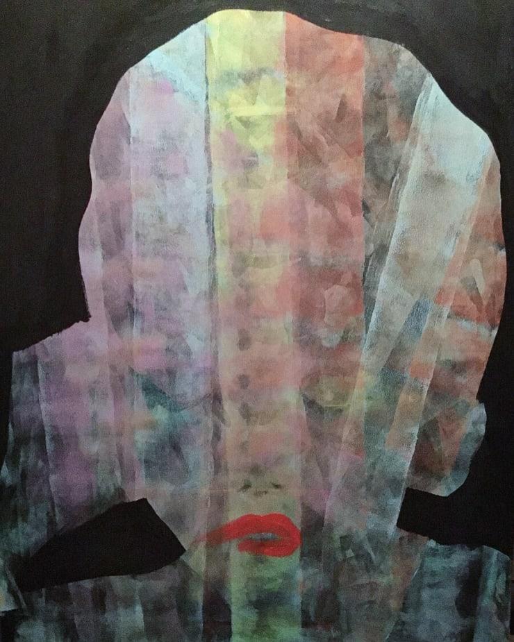 Hrair Asleep At The Back, 2018 Acrylic on Canvas 30 x 40 in 76.2 x 101.6 cm