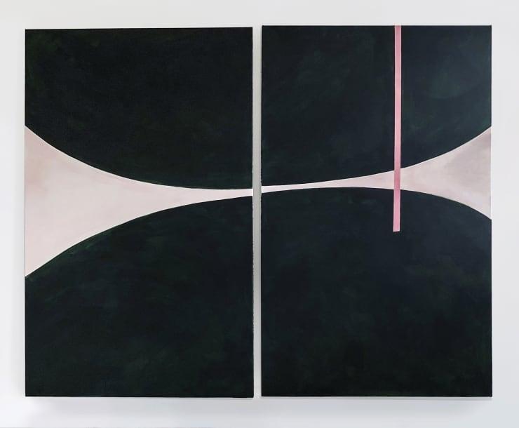 Form I (green), 2019 Acrylic on canvas 100 x 150cm