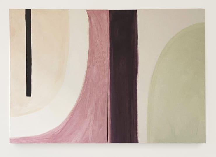 Half Moon I & II, 2019 Acrylic on canvas 59 1/8 x 43 1/4 in 150 x 110 cm