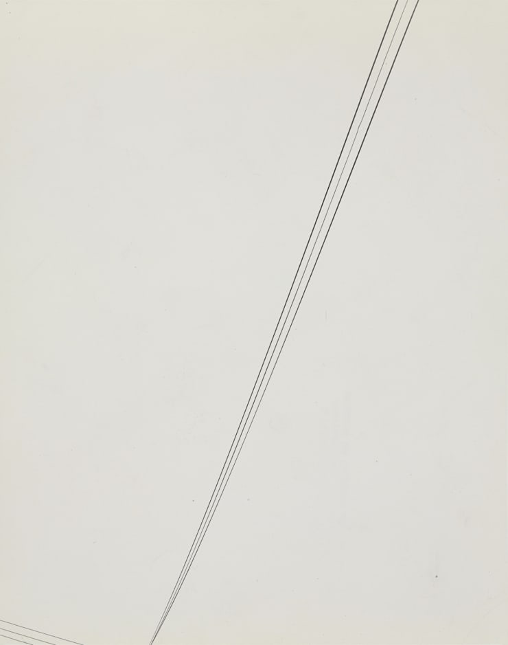 Harry Callahan (1912-1999), Detroit (telephone wires), 1945