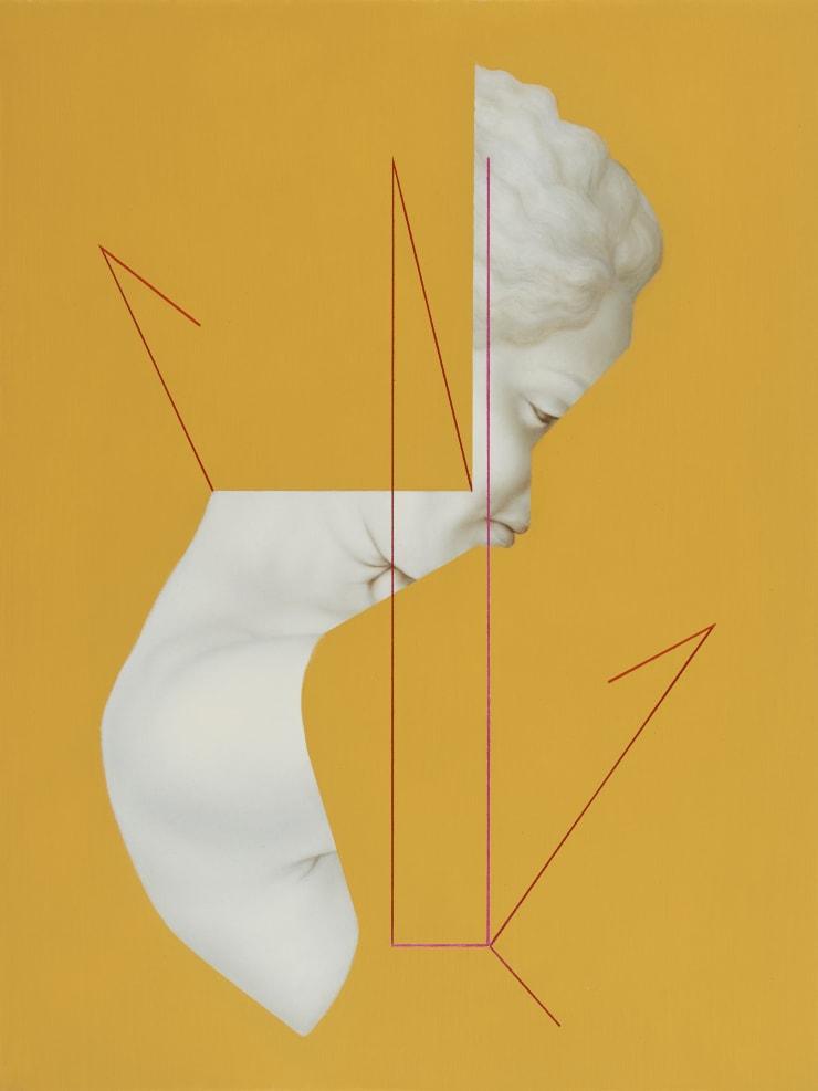 Juliette Mahieux Bartoli Rime Intérieure, 2019 Oil on panel, 40.6 x 30.4 cm
